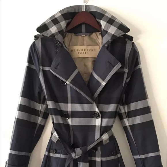 WOMENS BURBERRY LIGHTWEIGHT CHECK TRENCH JACKET